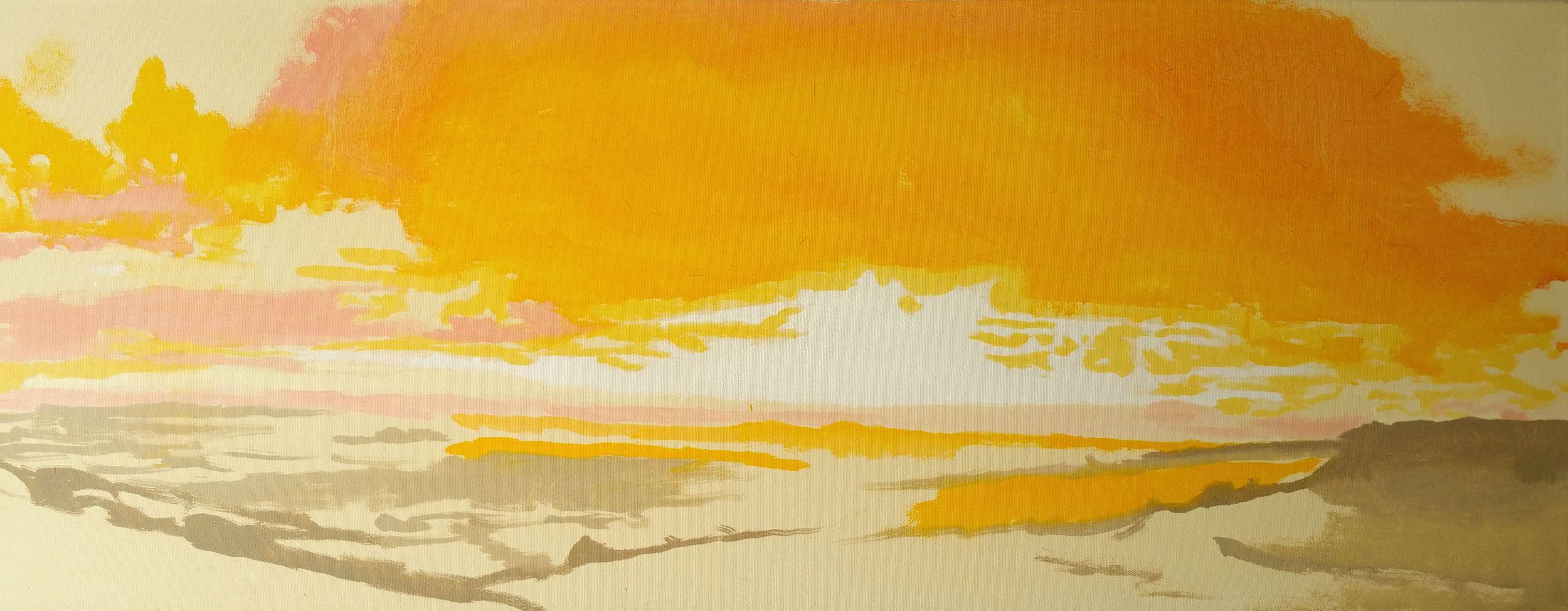 "Eggardon Colour 36""x14"" oil on canvas"