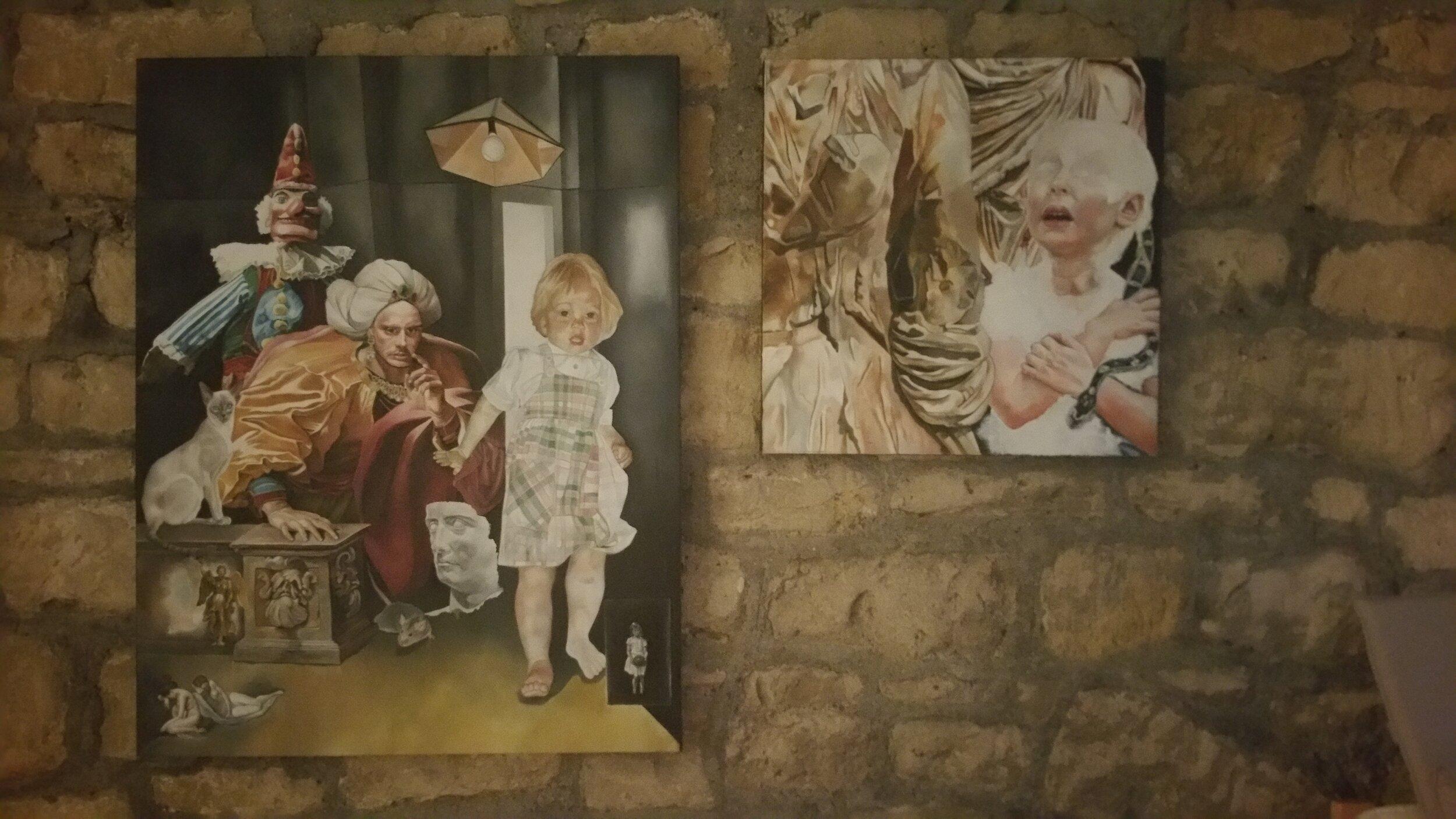 "Ellie Preston  paintings for ""Alternative Realities"" for Fringe Art Bath 2017"