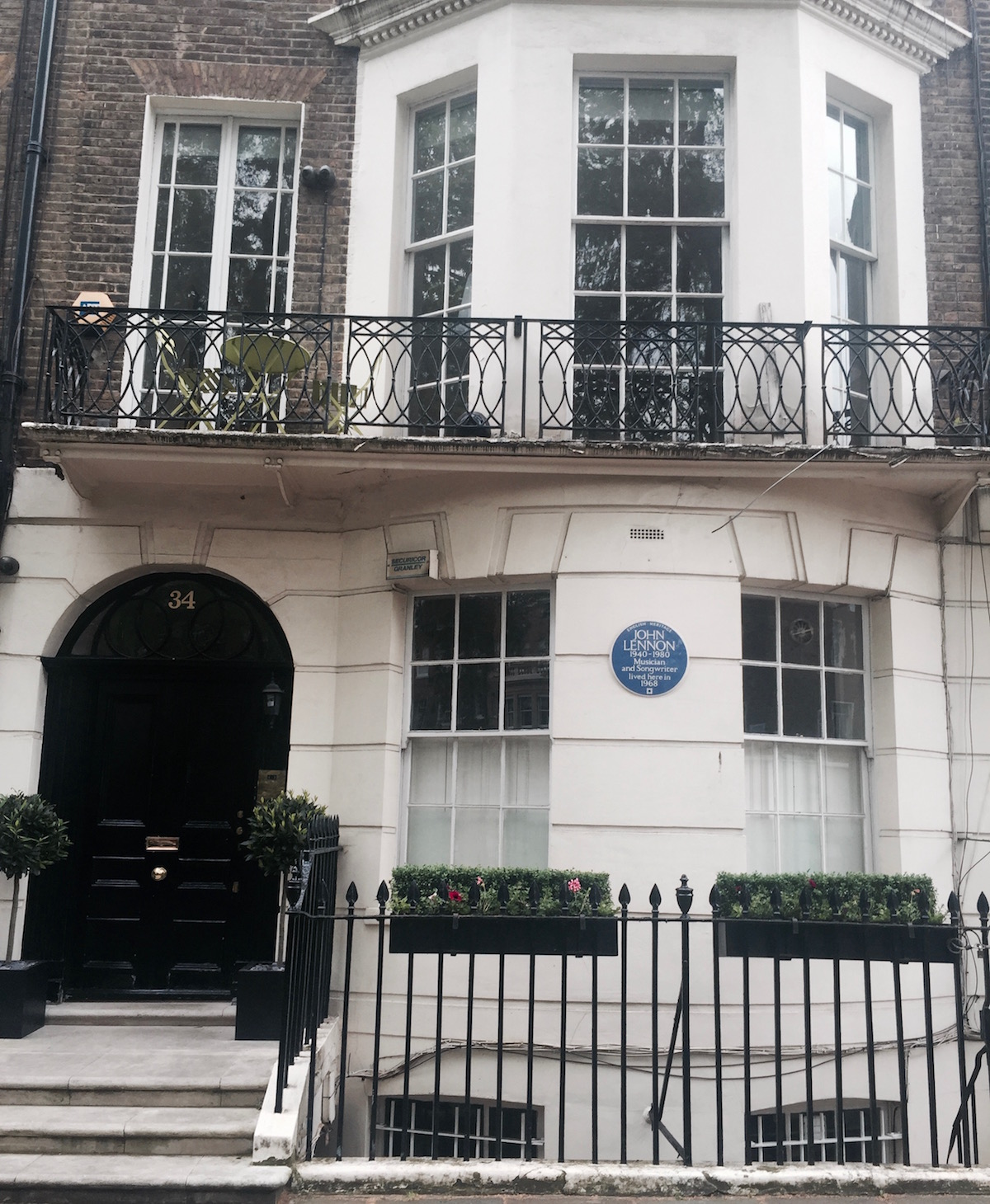 John Lennon's house in Marylebone, London