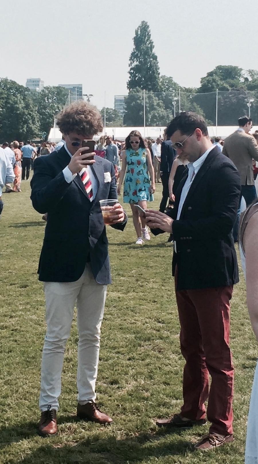 Stylish men at Polo, London