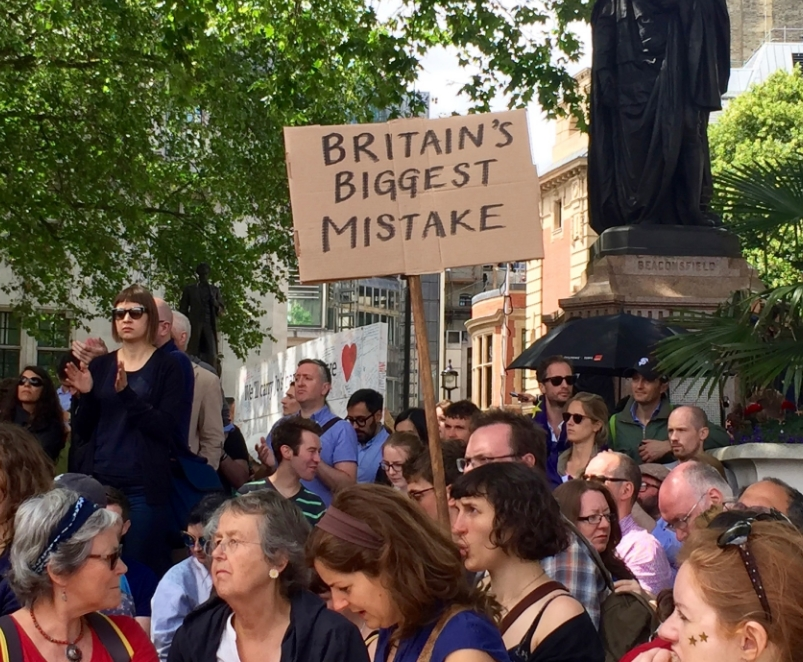 "March For Europe Anti Brexit Protest. ""Britain's Biggest Mistake"""