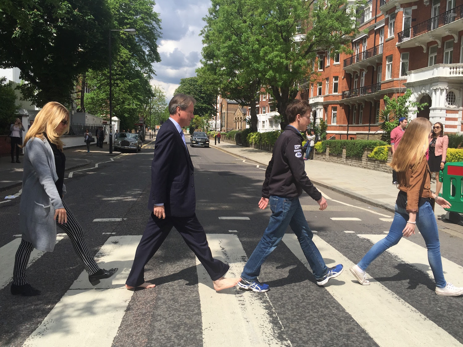 Recreating the Beatles Album Cover at Abbey Road