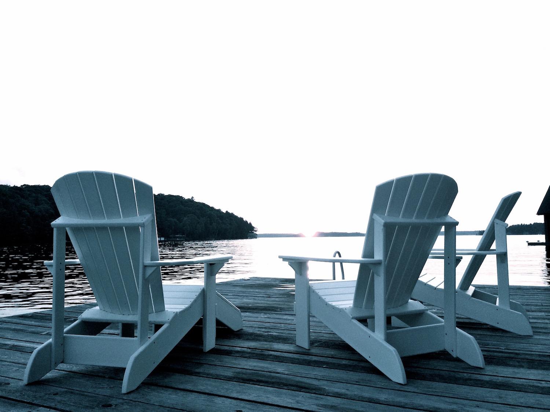 Muskoka Deck Chairs on Lake Rosseau, Muskoka