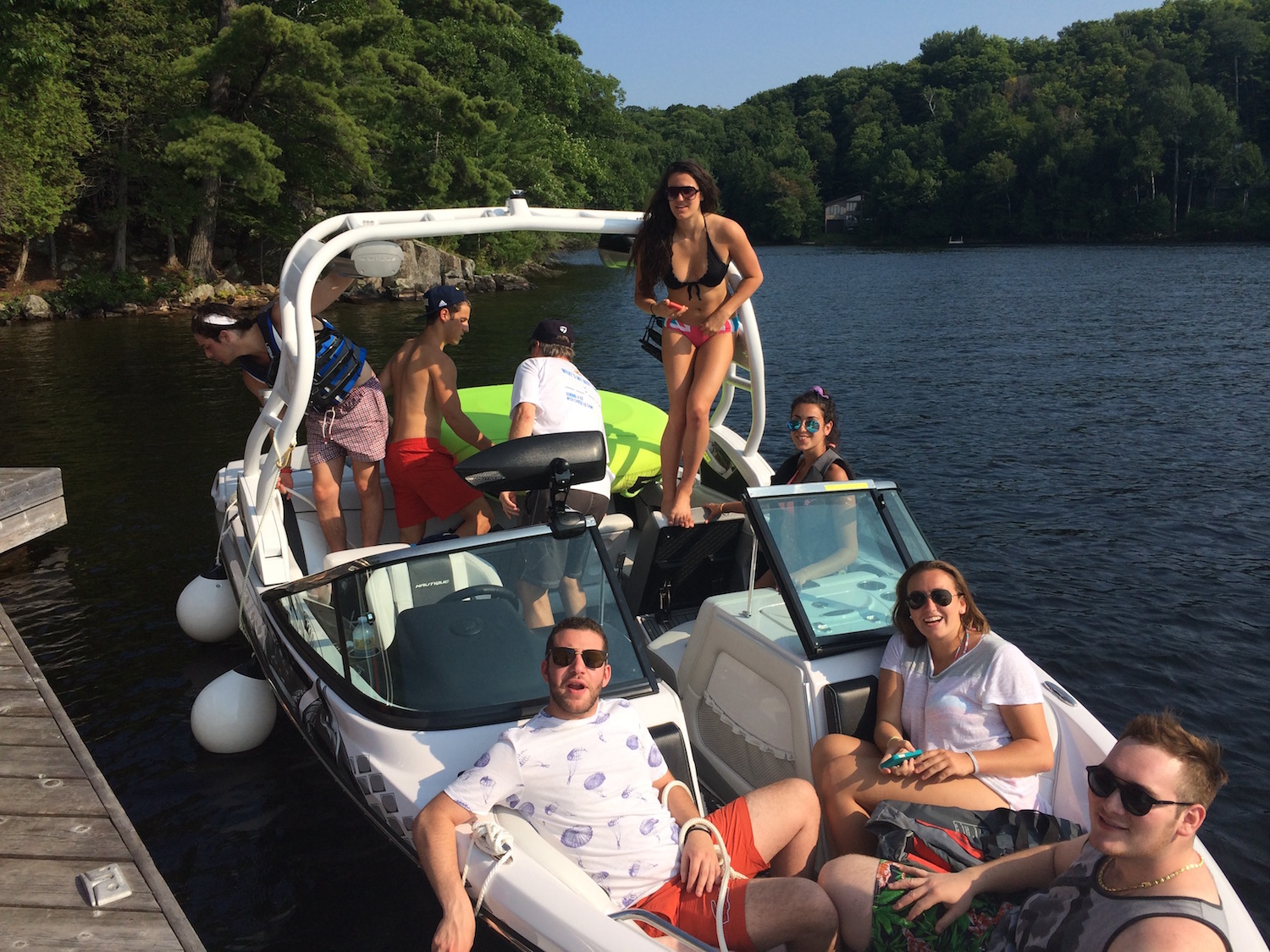 On the Boat on Lake Rosseau