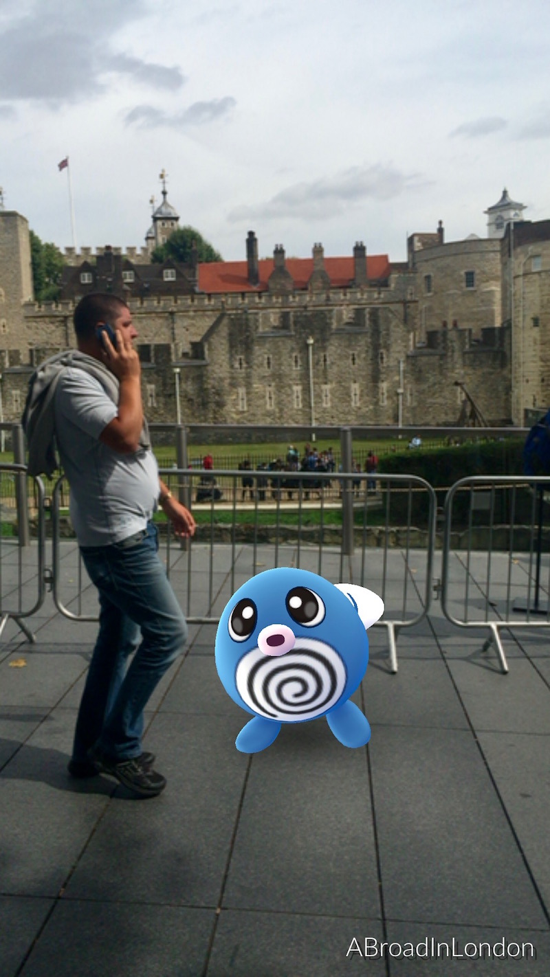 Poliwag Pokemon at Tower of London