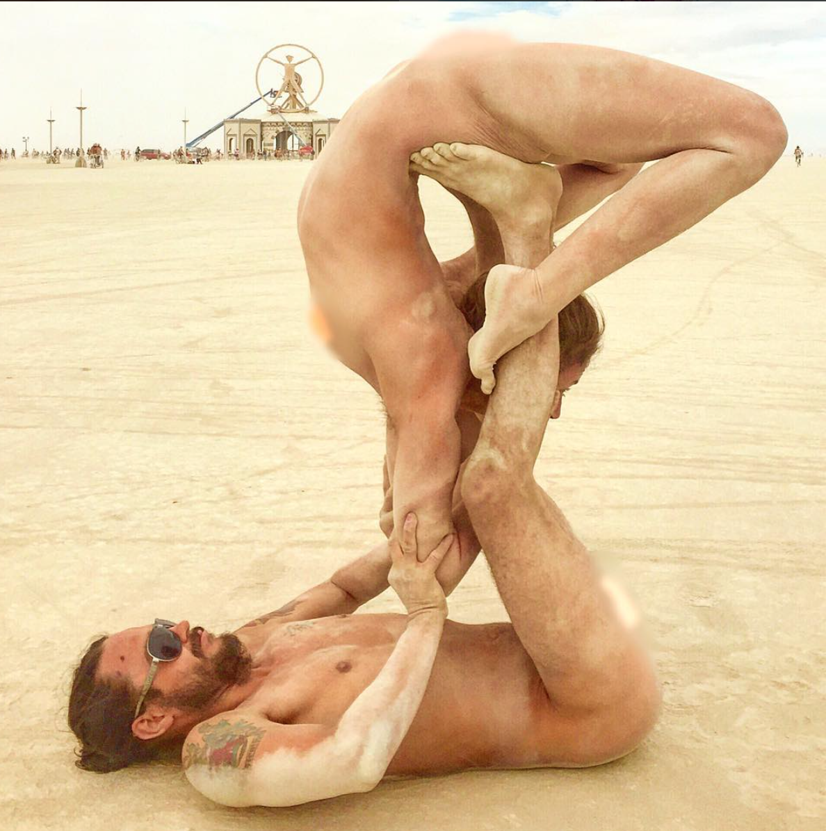 Naked Performance art on the Playa at Burning Man