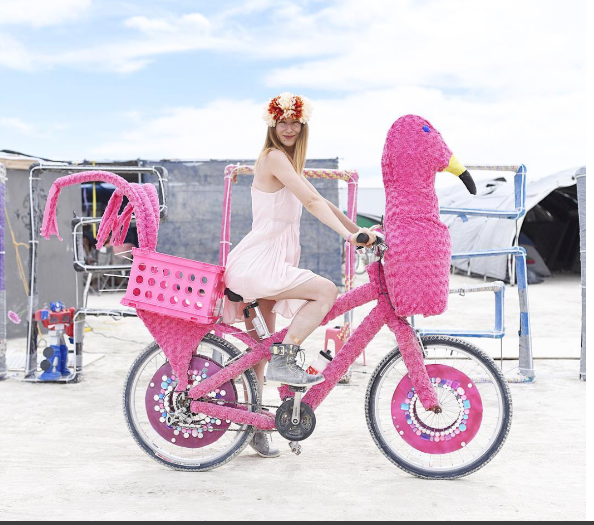 Customized bike at Burning Man