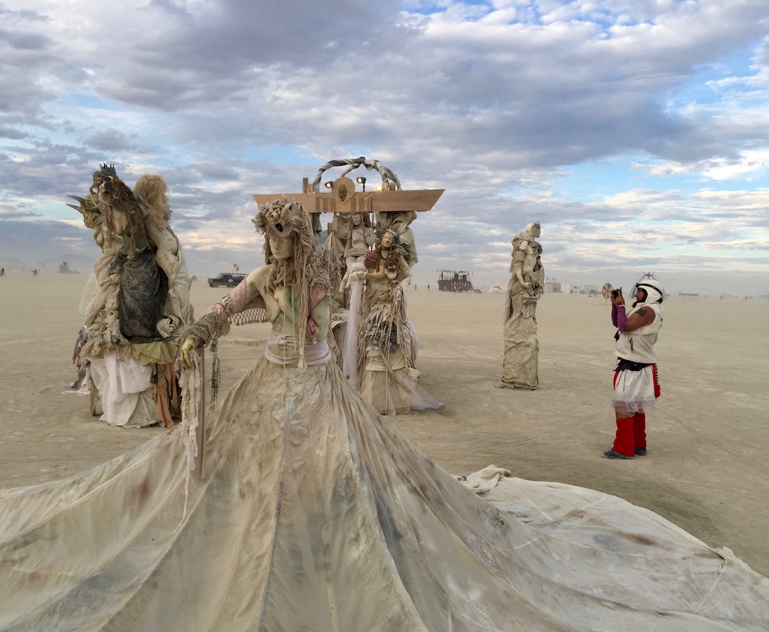Sand Witches in the desert. Part of the art at Burning Man, 2016