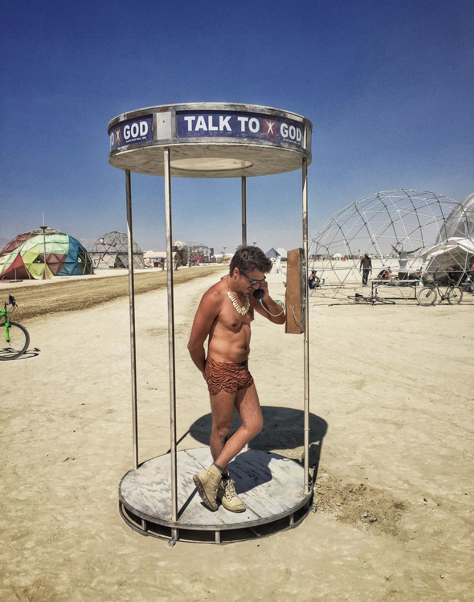 Talk to God art Installation at Burning Man 2016