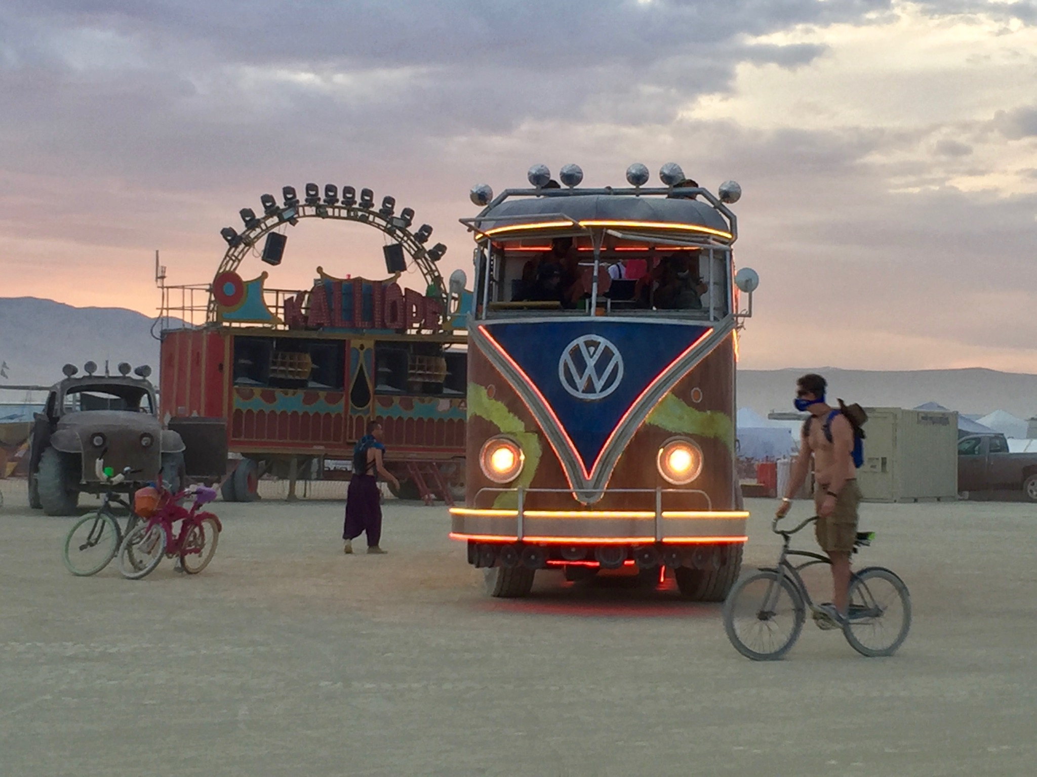 VW Mutant Art Car. Burning Man 2016