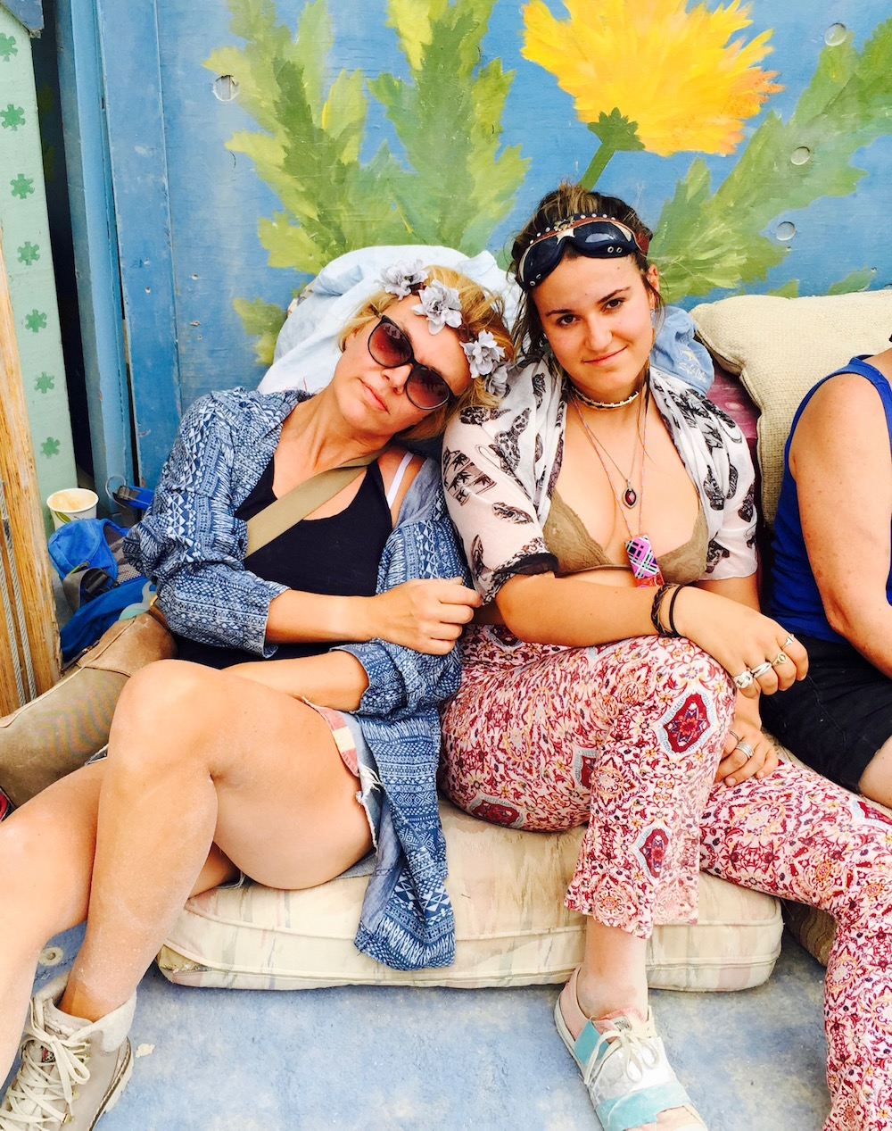 My daughter Sam and me at Burning Man 2016