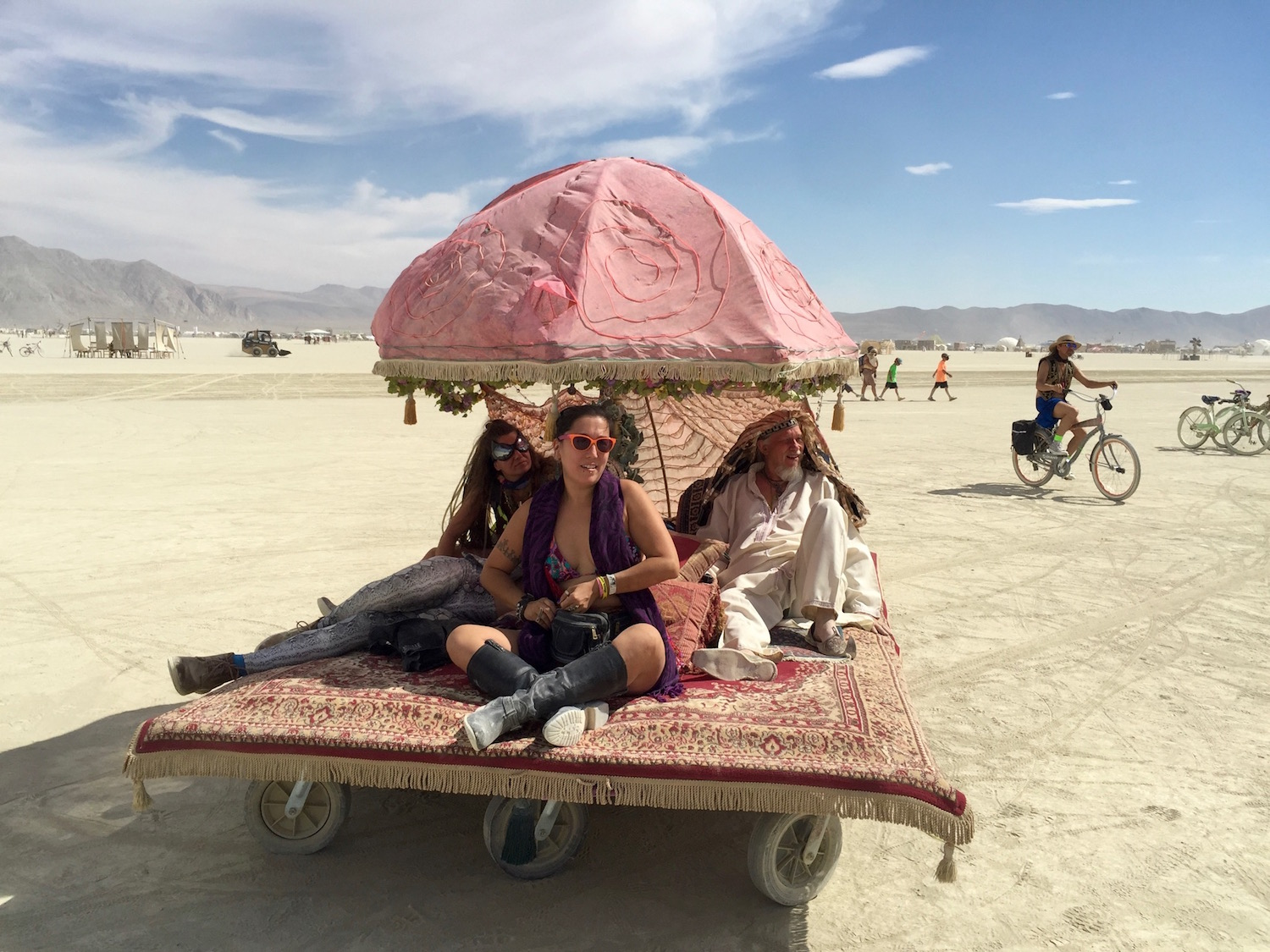 Mutant Art Car. Travelling the desert at Burning Man 2016