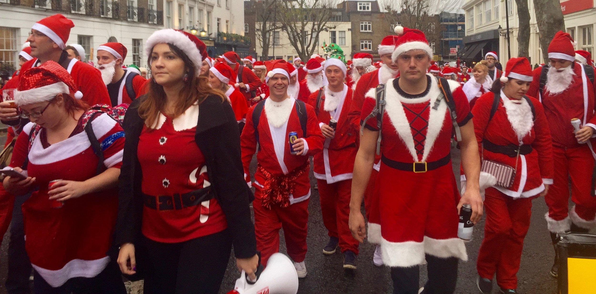 The Annual Santacon, London