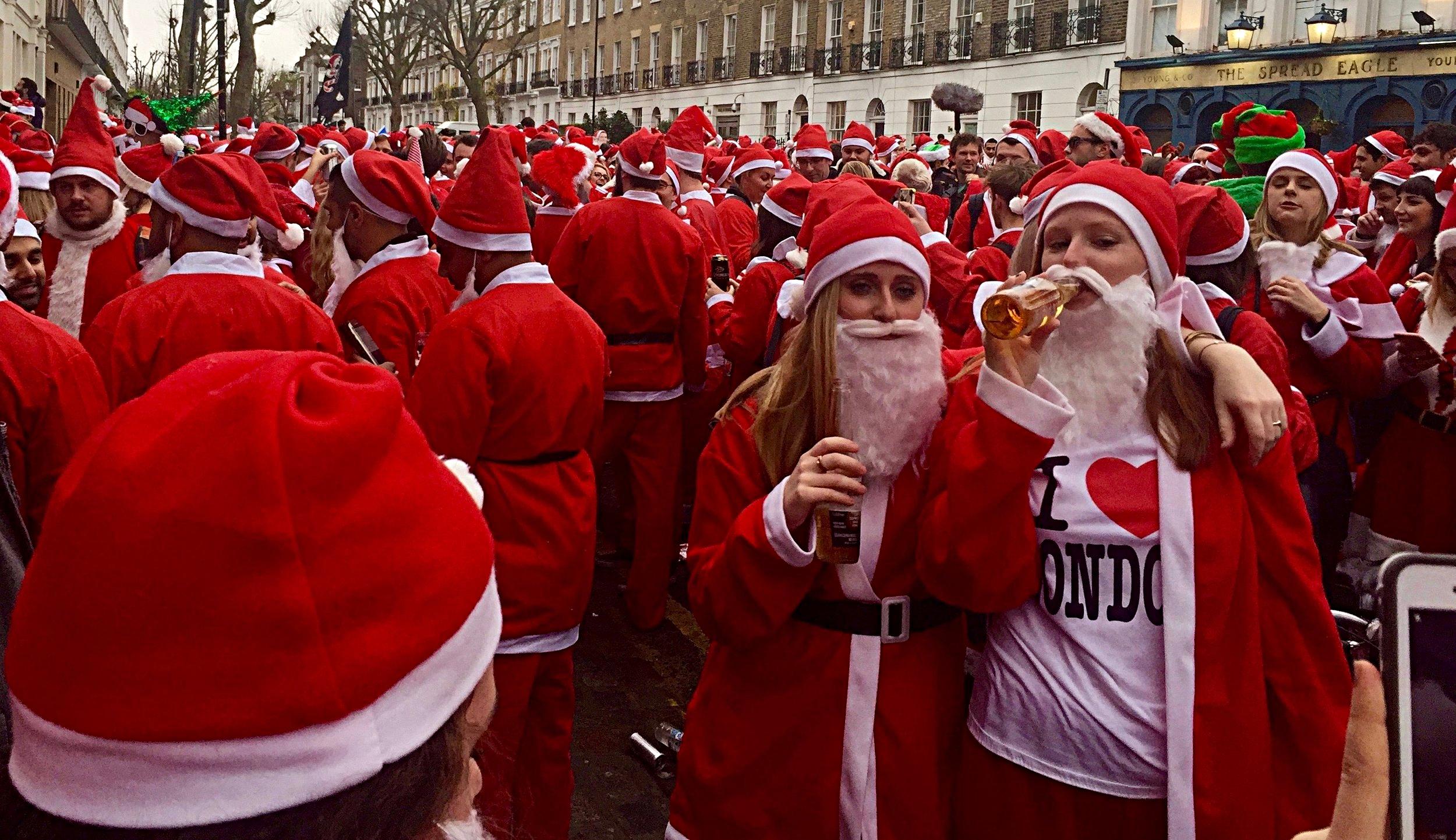 Santacon Santas in London