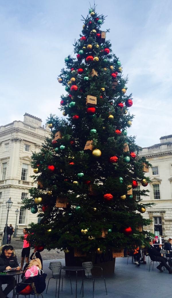 Christmas Tree at Somerset House, London