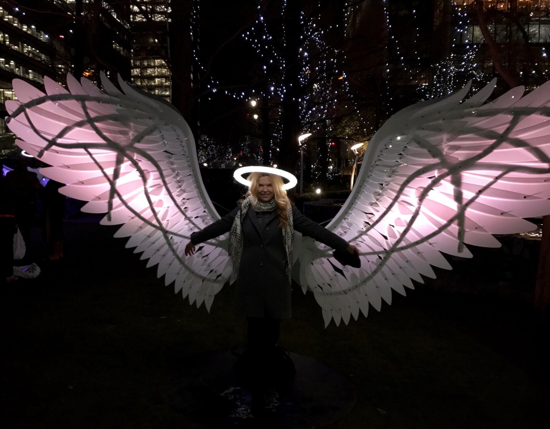 A Broad in London at Angels of Freedom, Canary Wharf 2017