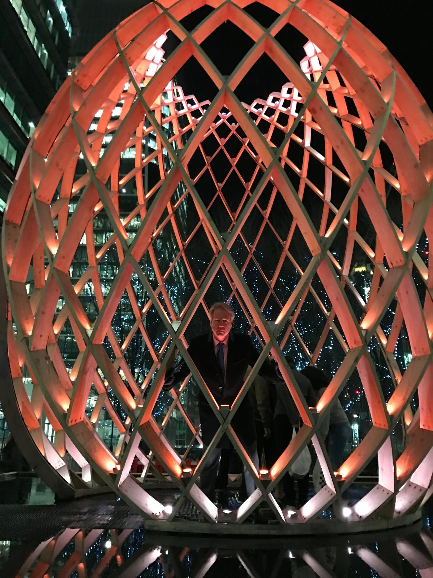 Ovo, Winter Lights. Canary Wharf 2017