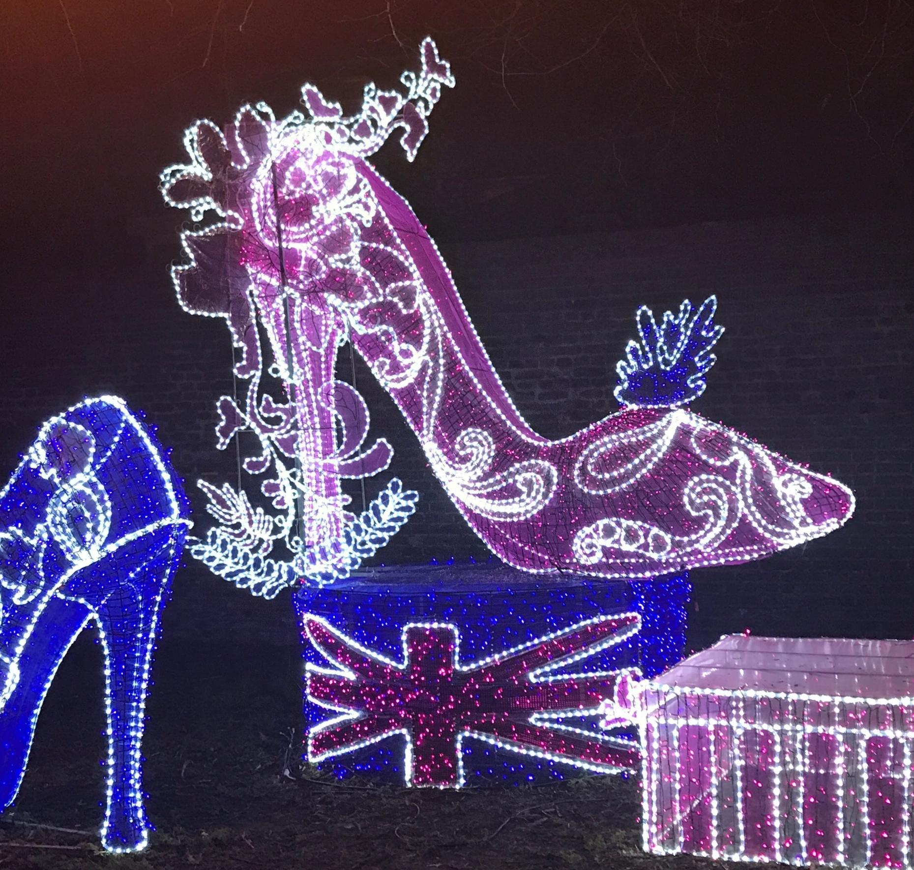 Celebrating Shoes and Fashion. Magical Lantern Festival. London 2017