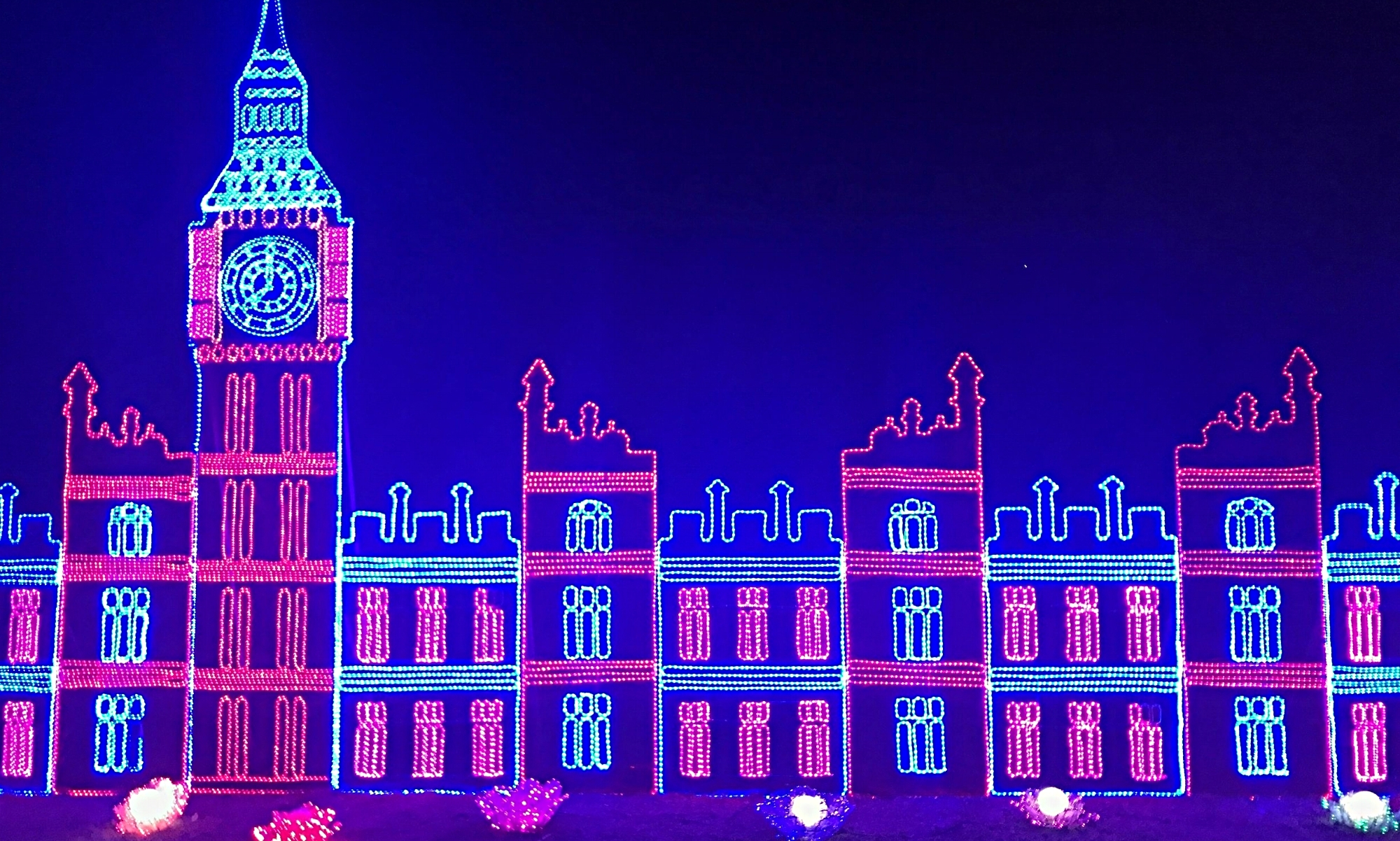 London Skyline in Lights. Magical Lantern Festival 2017