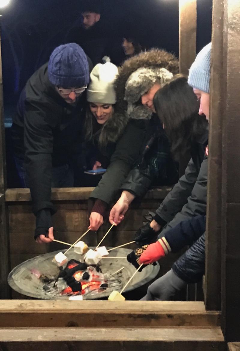 Roasting Marshmallows. Magical Lantern Festival 2017 London