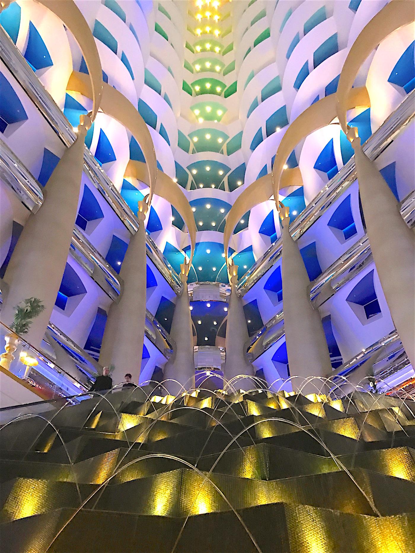 Stunning Lobby of The Hotel Burj Al Arab, Dubai