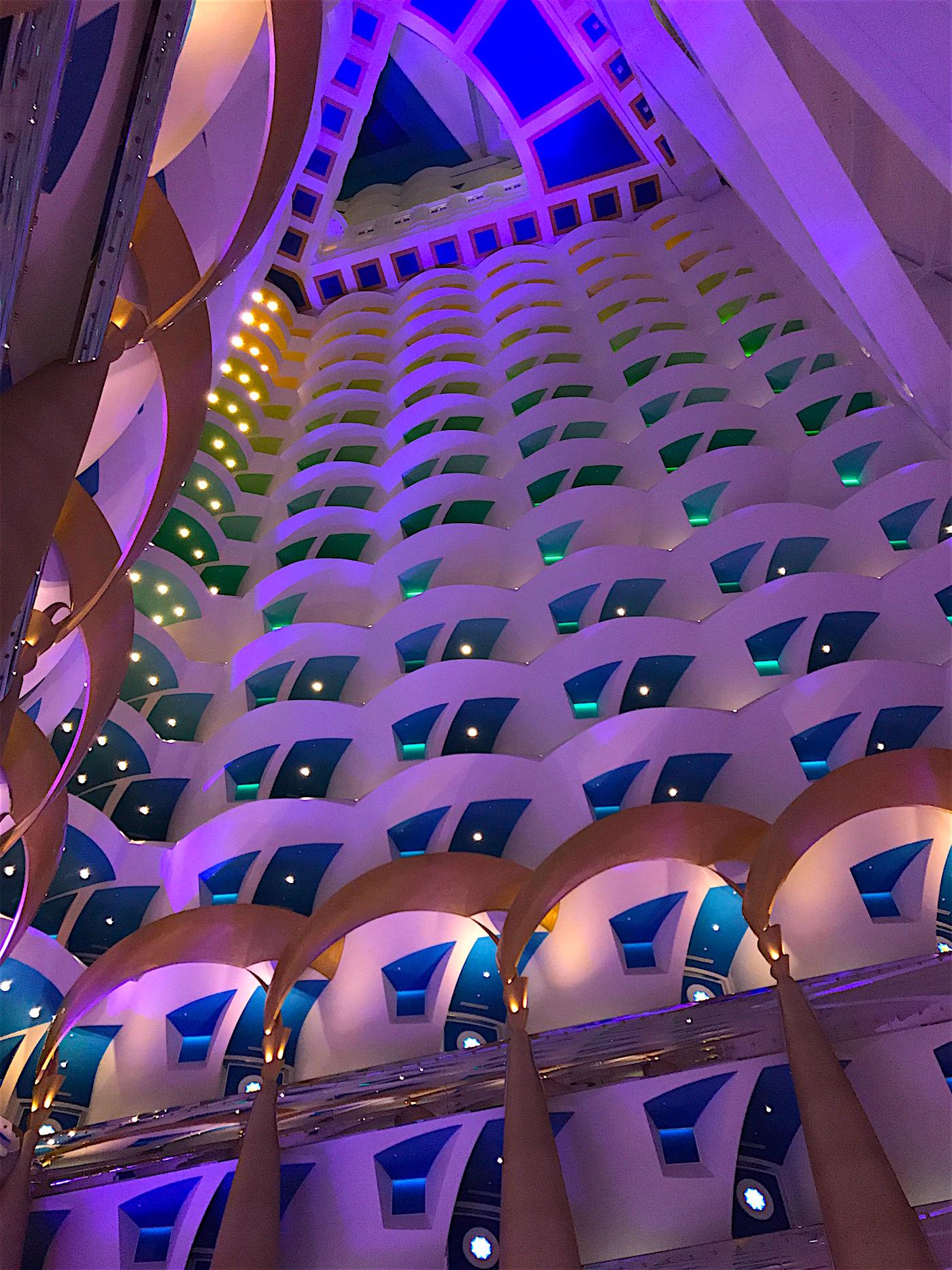 Click here to see a rare glimpse into the lobby of the Burj Al Arab Hotel