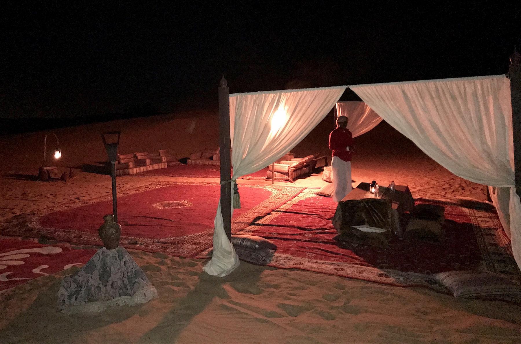 Dinner in the Desert. Desert Safari, Dubai