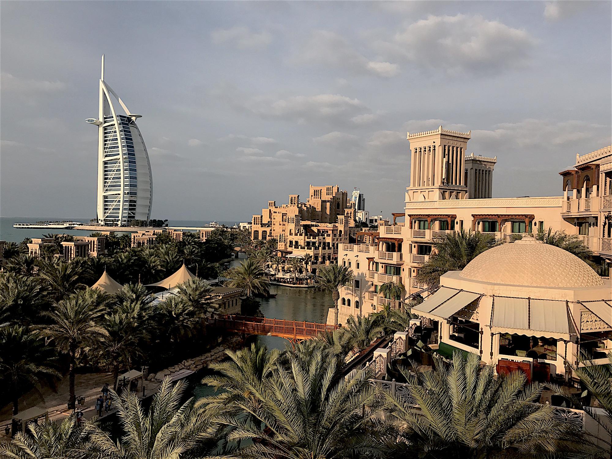 Looking at the Burj Al Arab from Hotel Al Qasr
