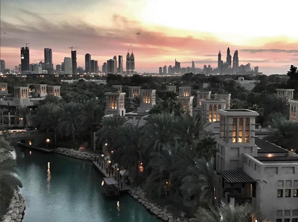Dubai City View From The Hotel Al Qasr