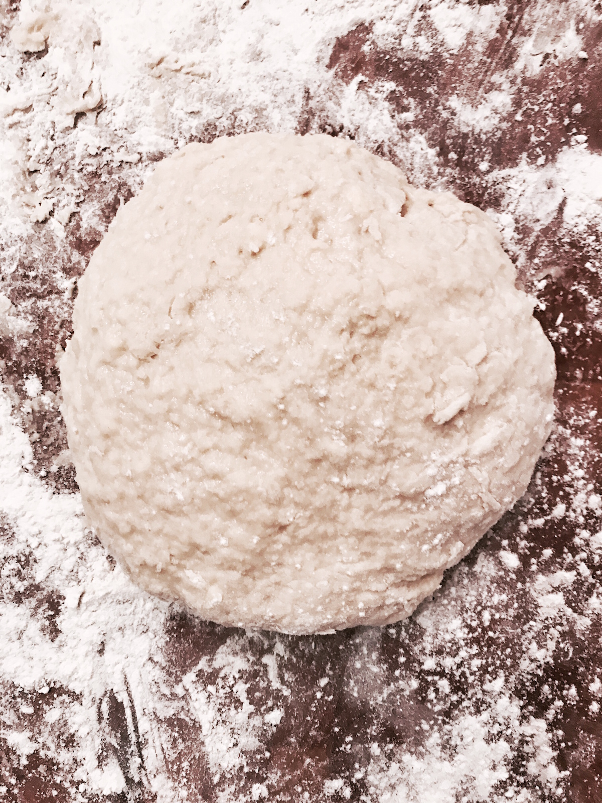 A ball of dough to make scones.