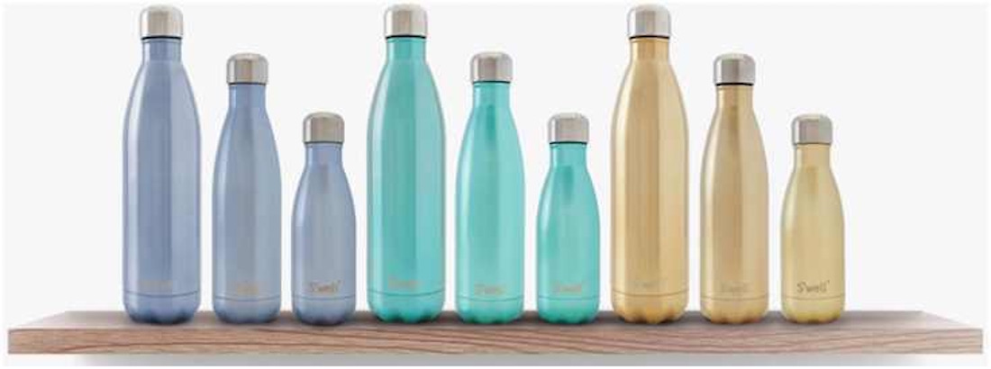 Collection of S'Well Water Bottles