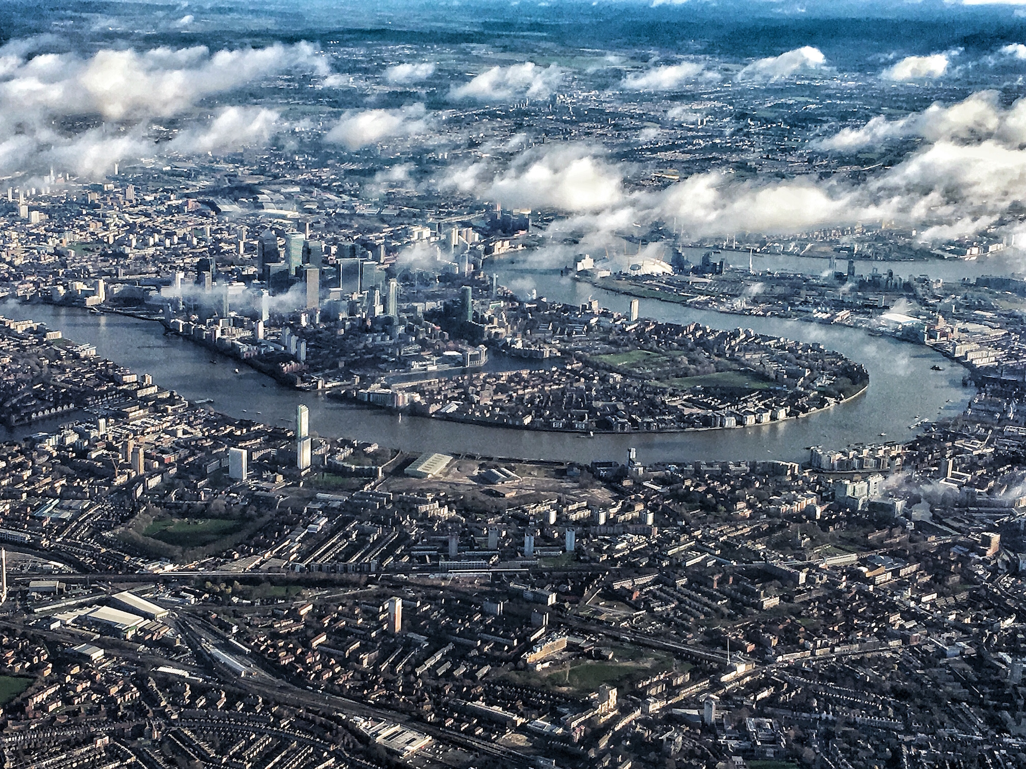 Circling London on final descent into Heathrow. Wow.