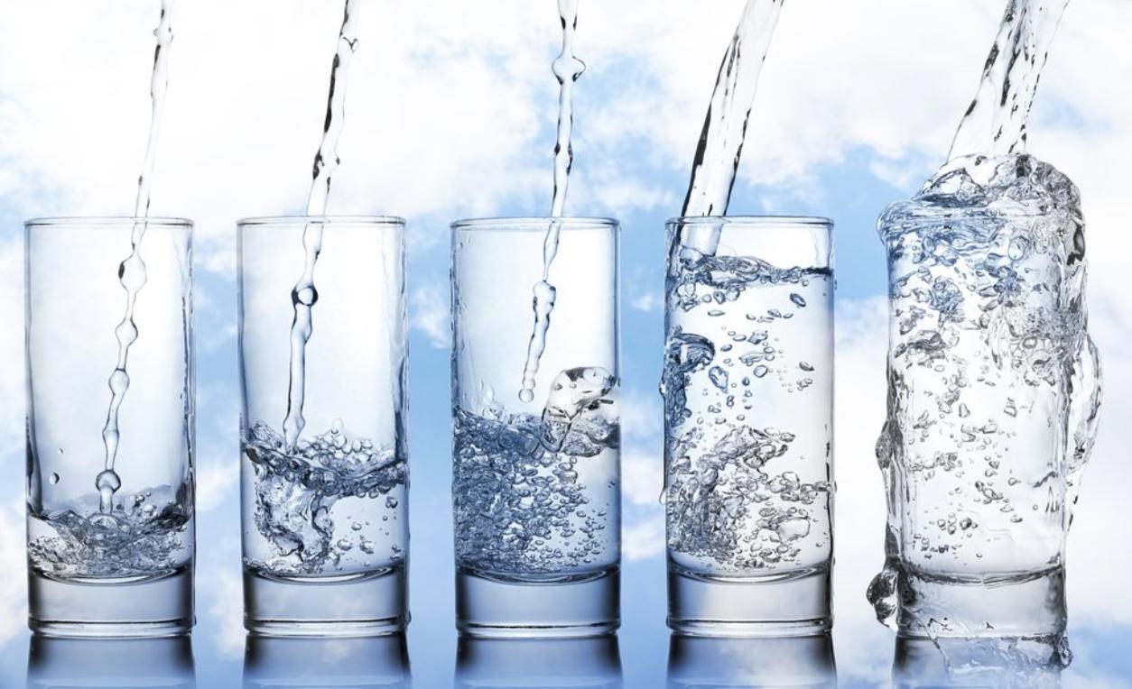 Water Glasses Filling
