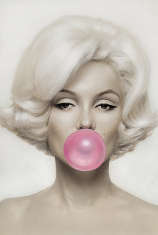 Pink Bubble Gum by Michael Moebius