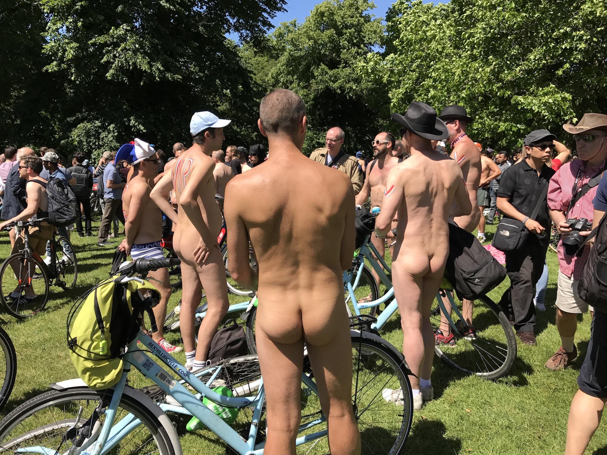 World Naked Bike Ride 2017. Start Hyde Park London