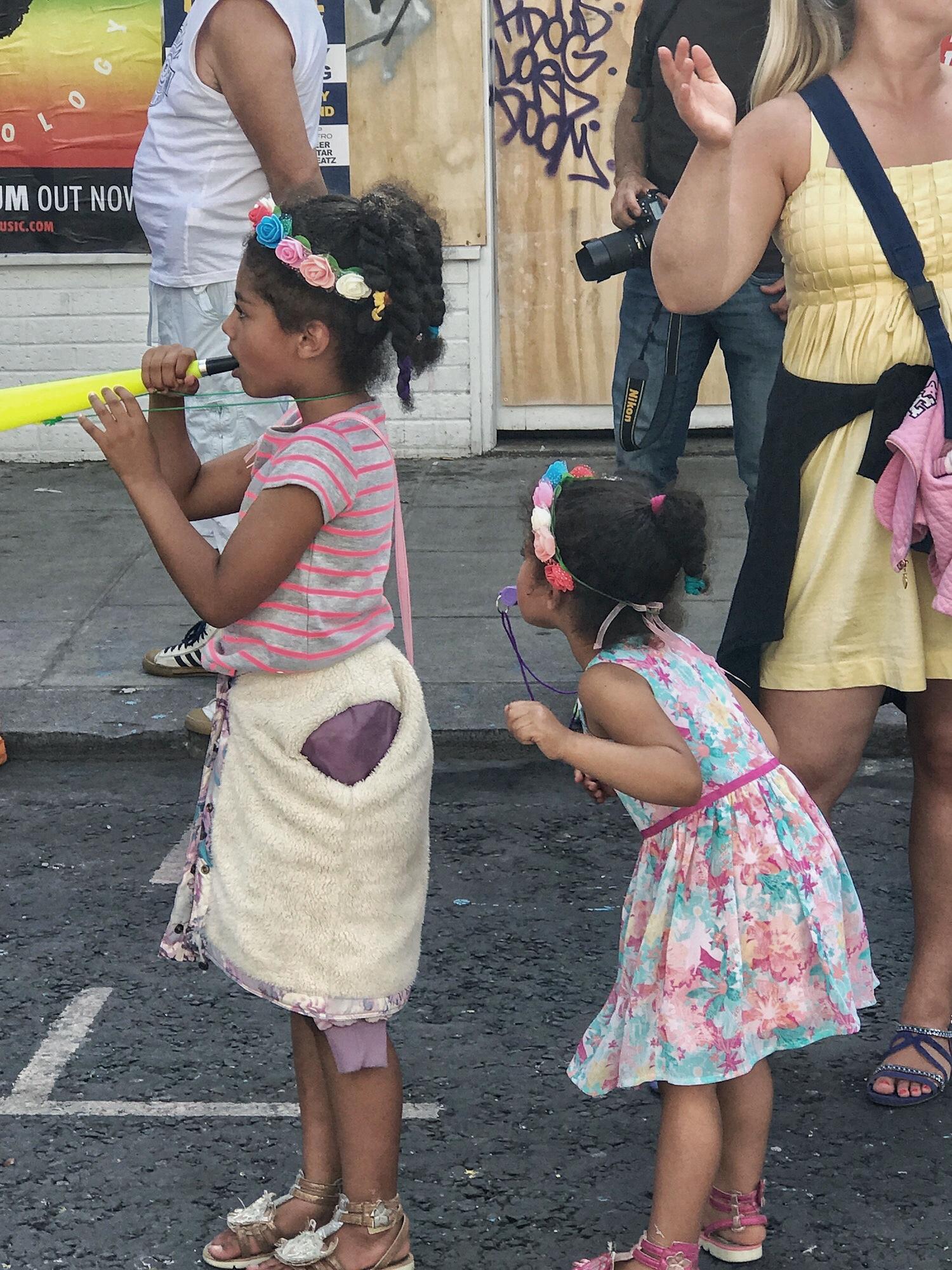 Little Girls at Notting Hill Carnival 2017
