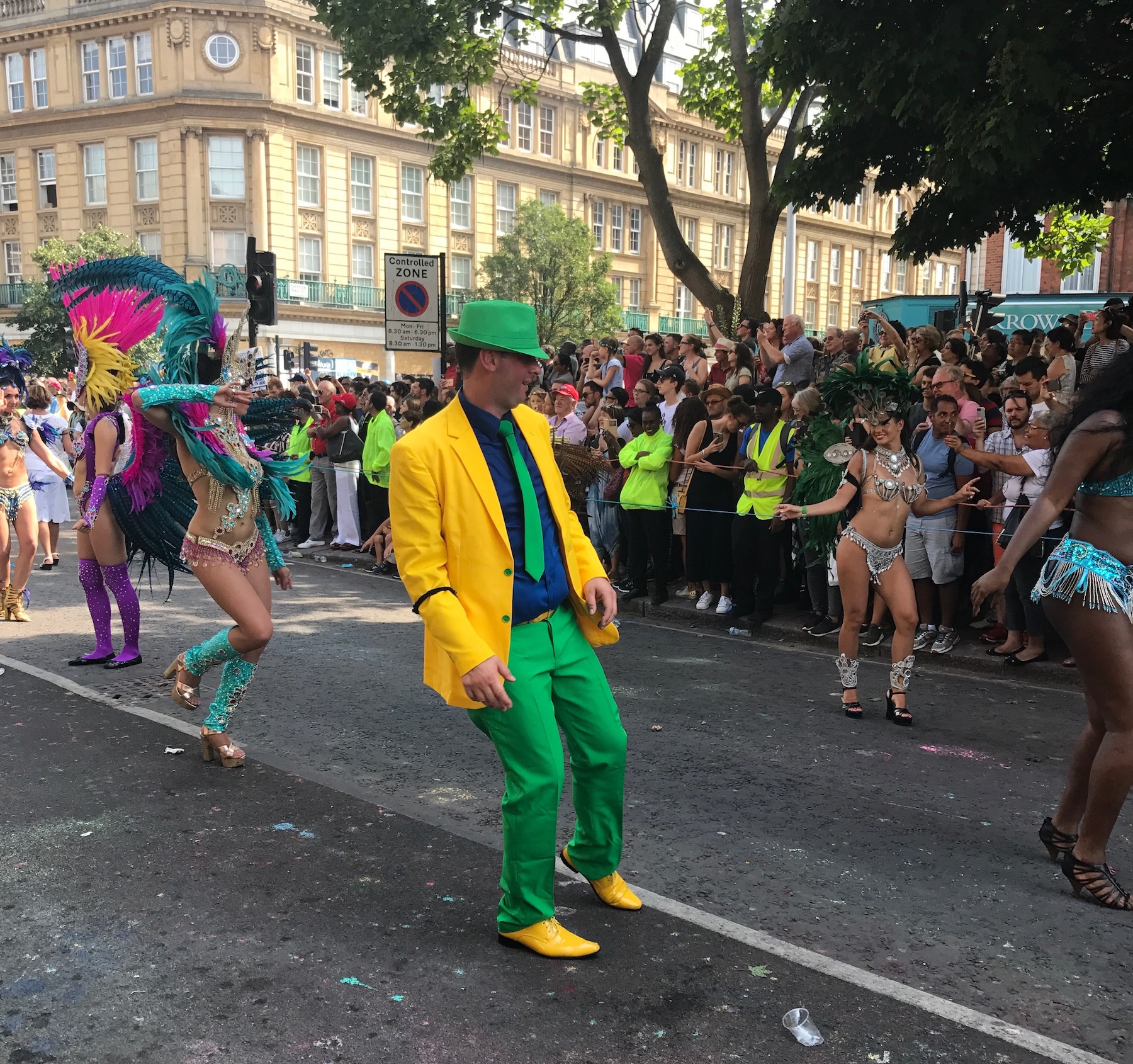 Dancing Guy in Yellow and Green Notting Hill Carnival .jpg