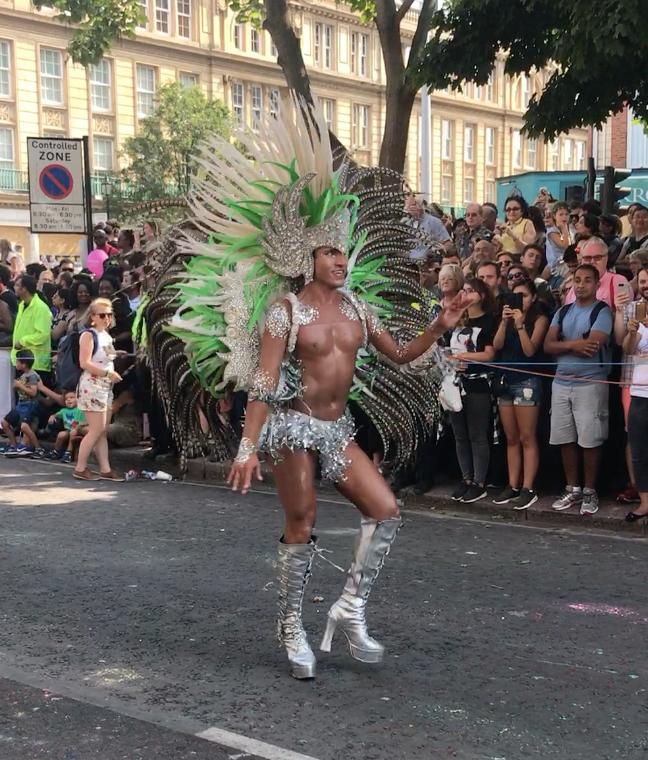 Dancer Shaking His Hips. Notting Hill Carnival 2017