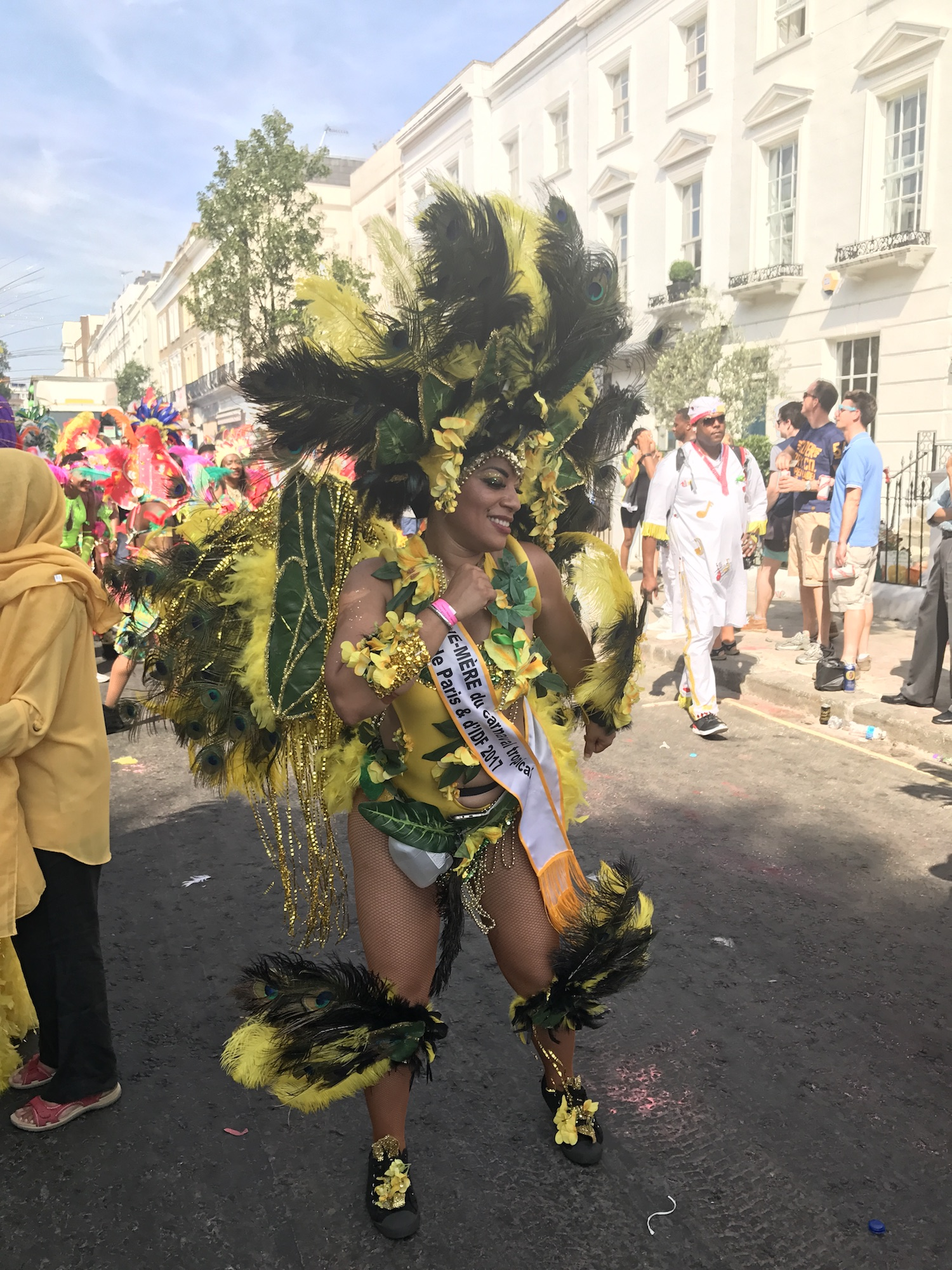 Dancer In Yellow. Notting Hill Carnival 2017