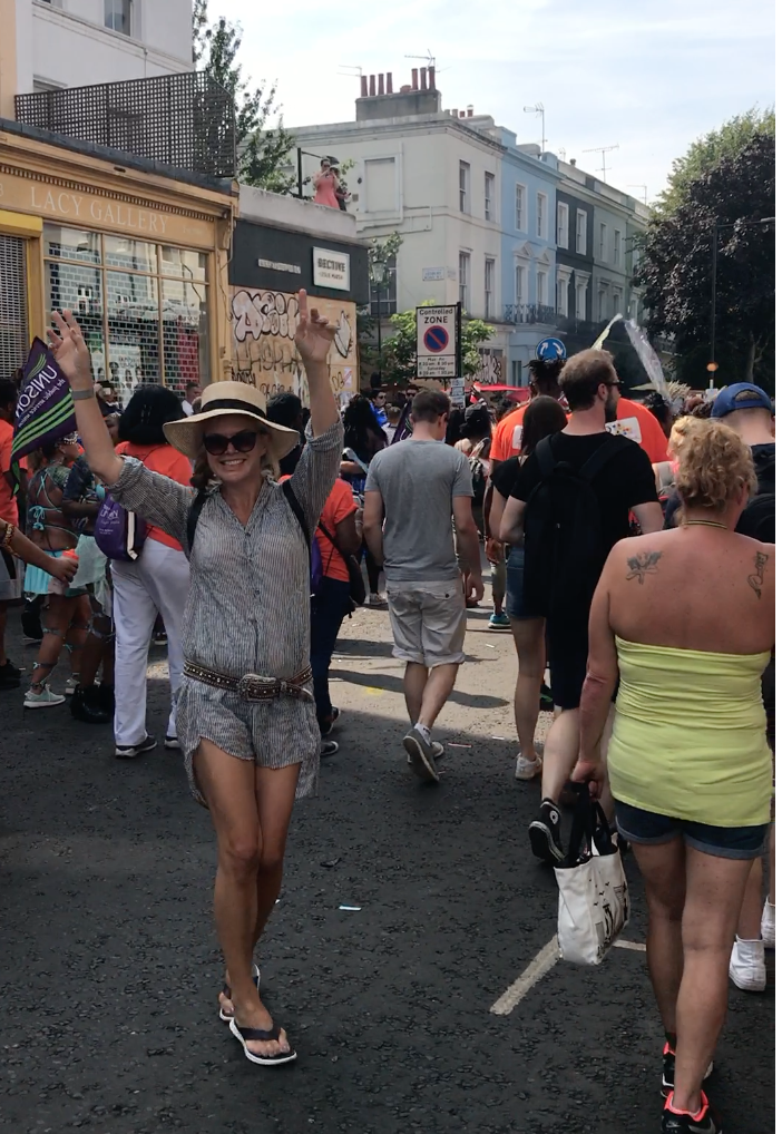 A Broad In London taking it to the streets at the Notting Hill Carnival 2017