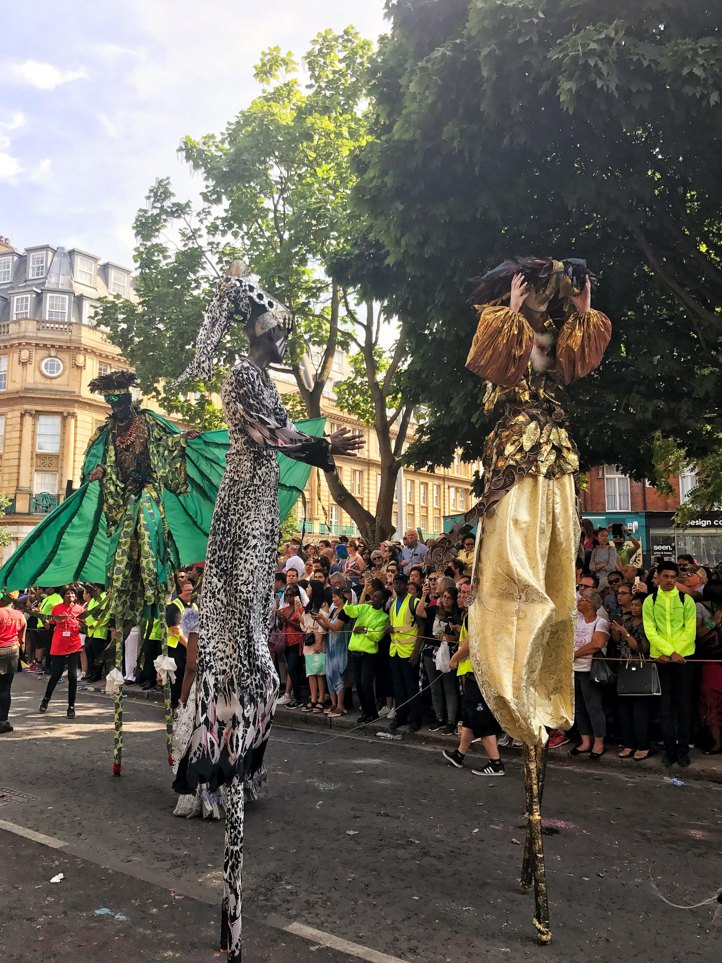 Stilts at Notting Hill Carnival Parade