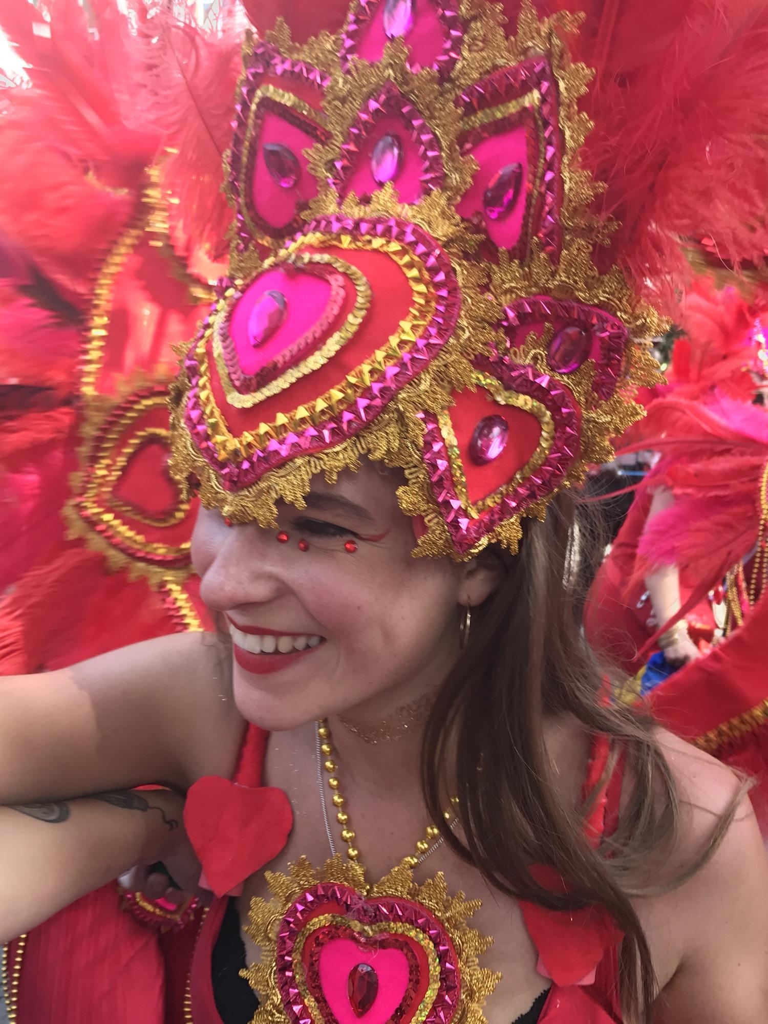Parade Dancer In Red. Notting Hill Carnival 2017.JPG