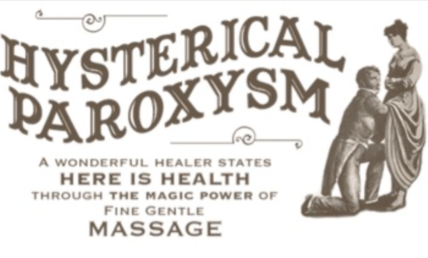 Vintage Hysterical Paroxysm Poster