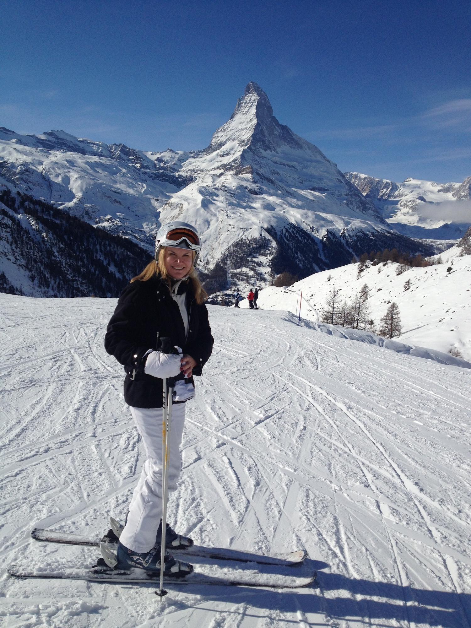 Christina Ford Skiing Zermatt.