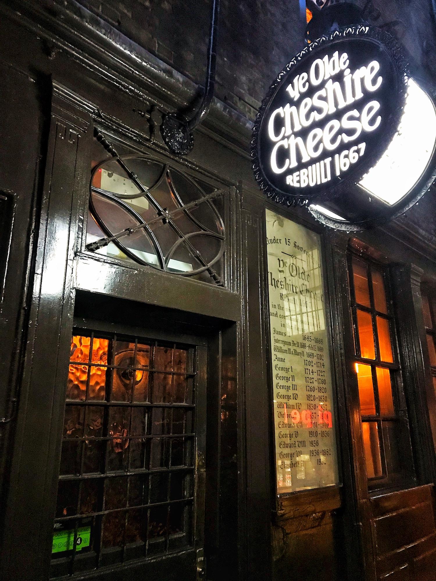 Ye Olde Cheshire Cheese.145 Fleet