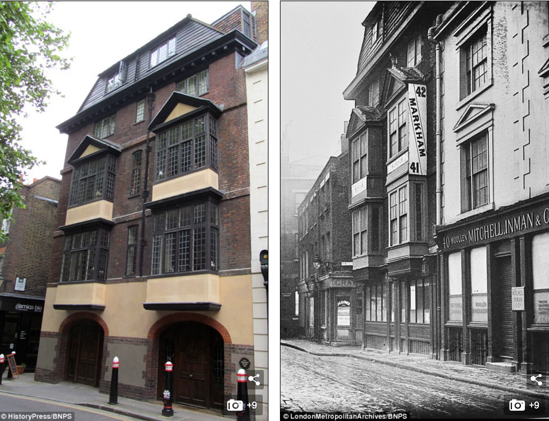 The Oldest House in London Now and Then