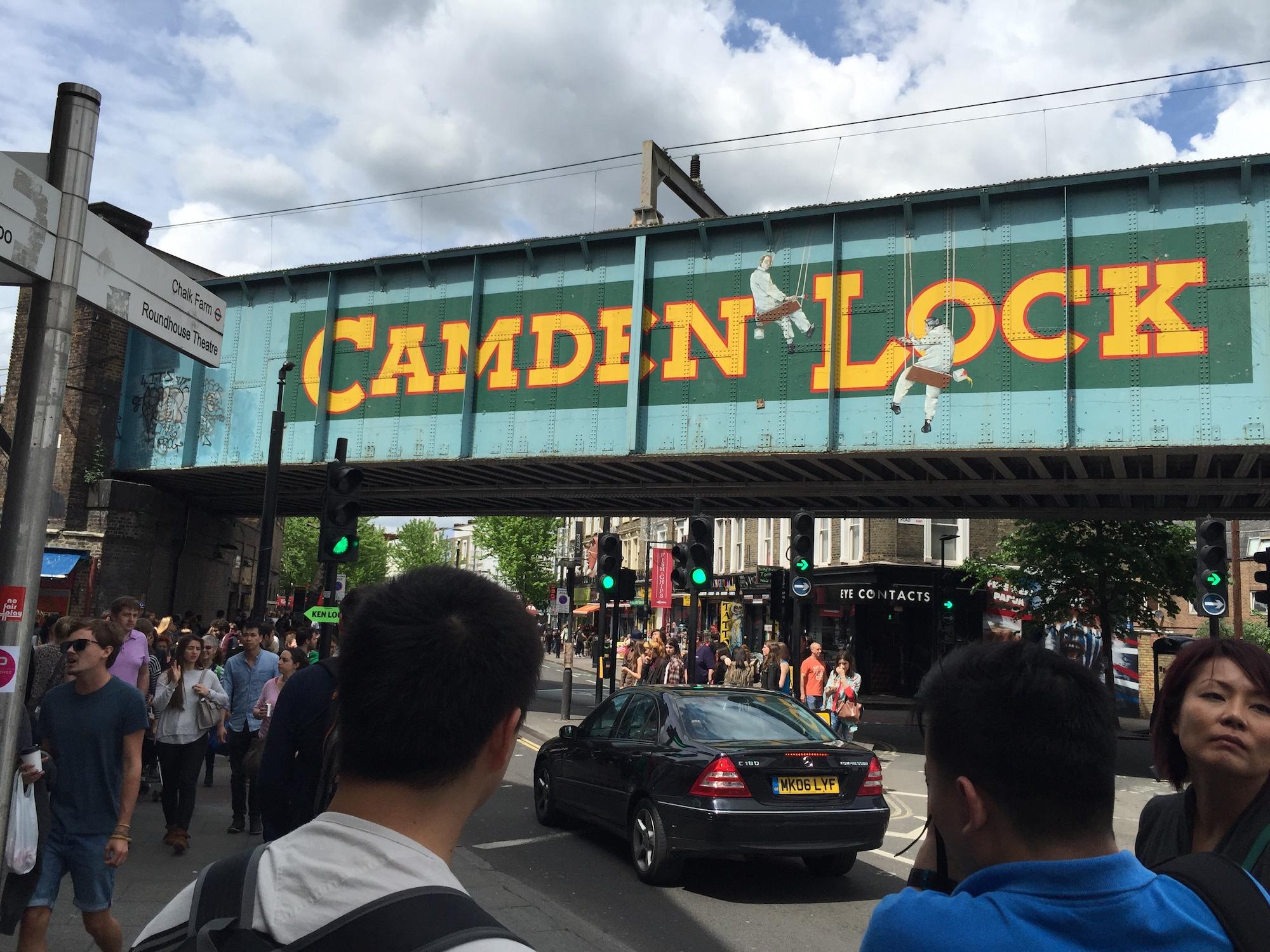 Camden Lock Bridge Hero. A Broad In London