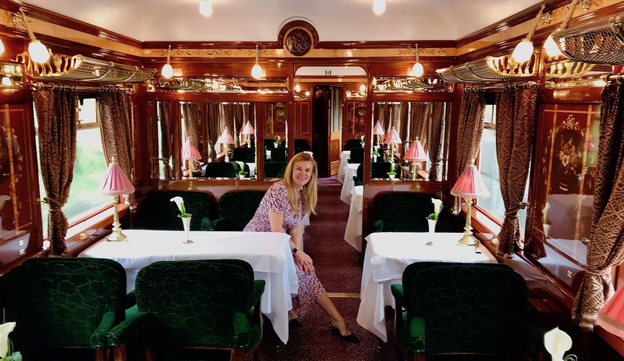 Sitting in the Etoile Du Nord Dining Car
