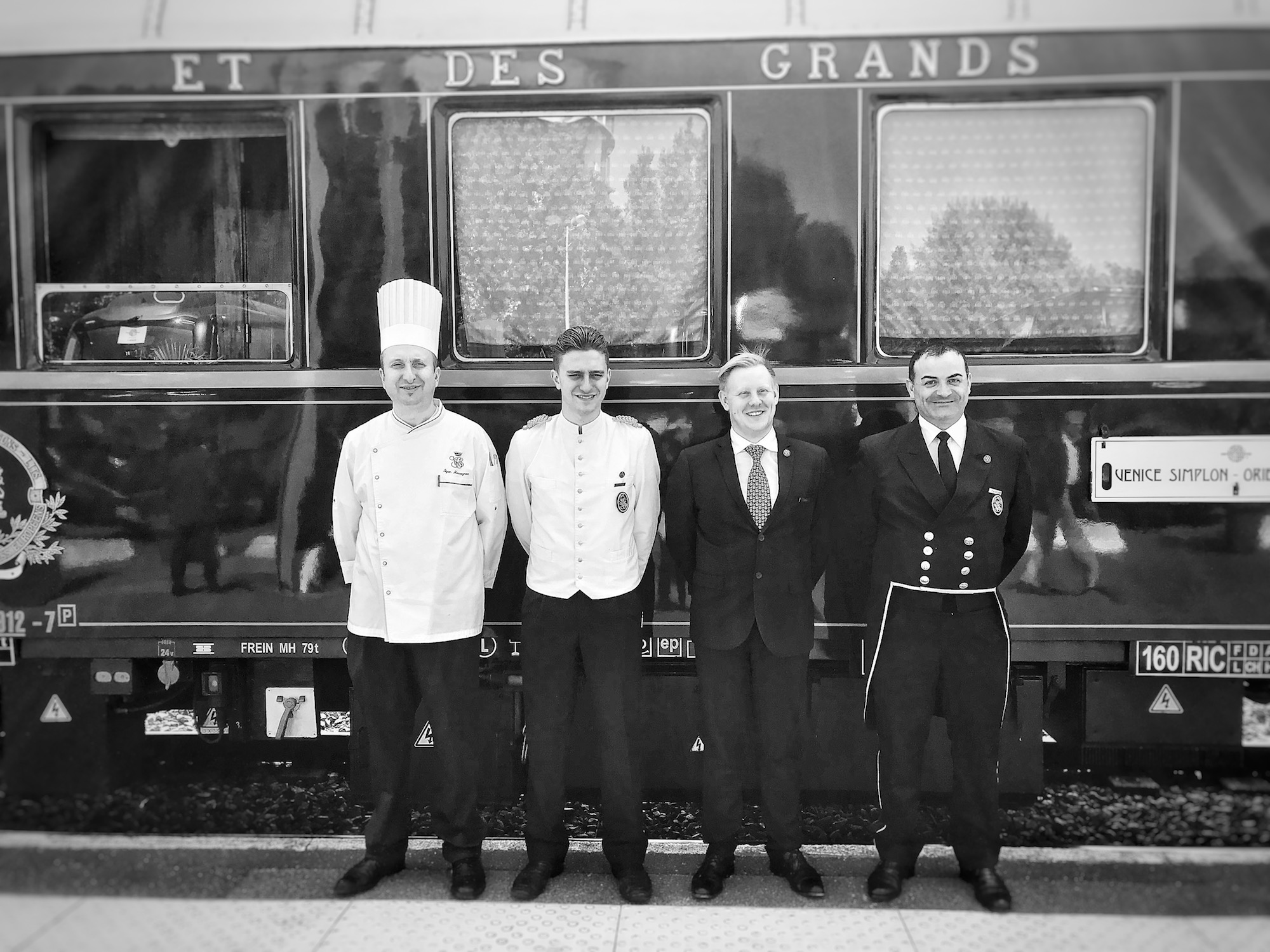 Staff Outside The Orient Express