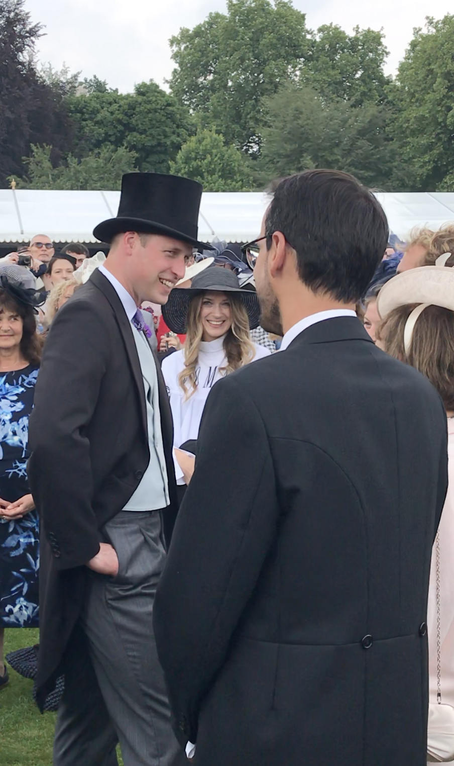 Prince William mingling at Queen's Garden Party